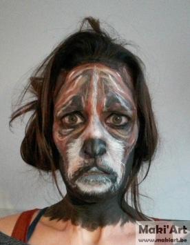 Facepaint - hond